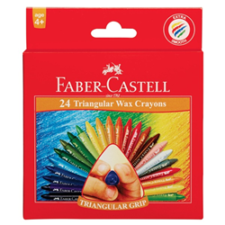 Picture of Faber-Castell Triangular grip wax crayons 24's