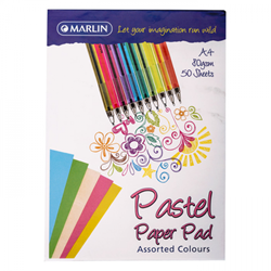 Picture of A4 Pastel paper pad assorted 50 sheets