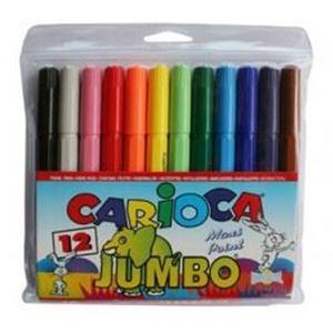 Picture of Carioca Jumbo Fibre Tip Koki Pens 12's