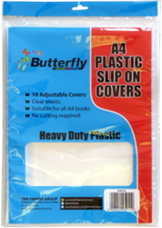 Picture of Butterfly A4 Plastic Slip on Covers 10's