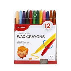 Picture of Mon Ami retractable wax crayons 12