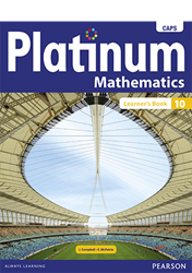 Picture of Platinum Mathematics Grade 10 Learner's Book