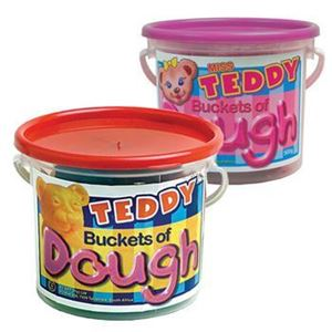 Picture of Teddy Playdough 500g assorted primary colours