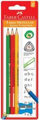 Picture of Faber-Castell Junior Grip 3 2B Pencils with sharpener