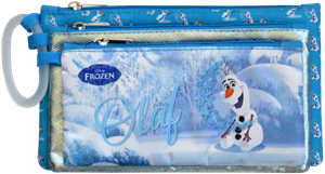 Picture of Butterfly Frozen 3 Compartment Pencil Bag Assorted Designs