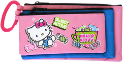 Picture of Hello Kitty 3 Compartment Pencil Bag Assorted Designs