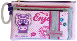 Picture of Butterfly MUY Pop Girl 3 Compartment Pencil Bag Assorted Designs