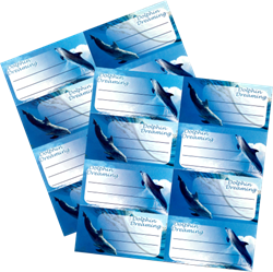 Picture of Dolphin Book Labels 16 Per Pack