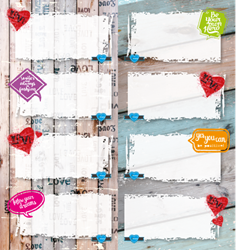 Picture of Love & Life Book Labels 16 Per Pack