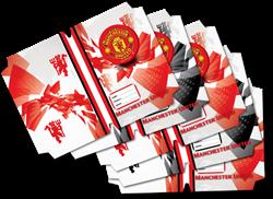 Picture of Manchester United A4 Precut Book Covers 5 Per Pack