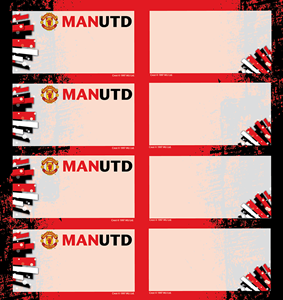 Picture of Manchester United Book Labels 16 Per Pack