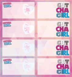 Picture of Gotcha Girls Book Labels 16 Per Pack