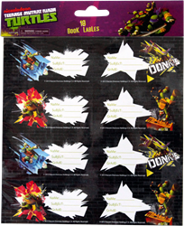 Picture of TMNT Book Labels 16 Per Pack