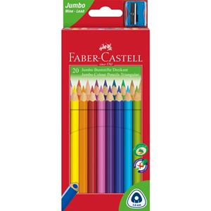 Picture of Faber-Castell Junior triangular Coloured Pencils Box of  20