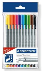 Picture of Staedtler Triplus Fineliner 10`s soft packet