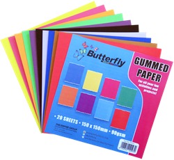 Picture of Butterfly Gumpaper Squares 20 Sheets