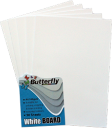 Picture of Butterfly A4 Project Board White 50 Sheets