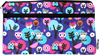 "Picture of Butterfly Double Zip Neoprene Pencil Case fits 10"" tablet"