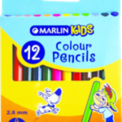 Picture of Marlin Kids Colour Pencils 12's -Short
