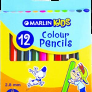 Picture of Marlin Kids Colour Pencils 12's -Short