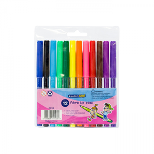 Picture of Marlin Kids Fibre Tip Pens 12's