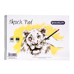 Picture of Marlin A4L Sketch Pad 25 Pages Side Spiral