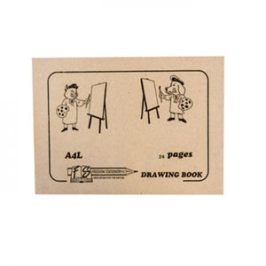 Picture of A4L 24 Page Drawing Book - with Tissue