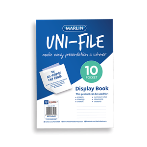 Picture of Marlin Uni-File Soft Cover Display Book 10 Pockets