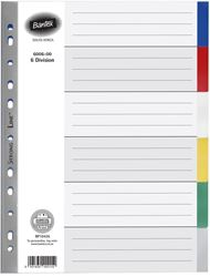 Picture of Bantex A4 6 division polypropylene file divider