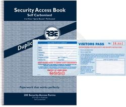 Picture for category Visitor and Access Books