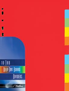 Picture of A4 10 Division File Dividers Bright Board