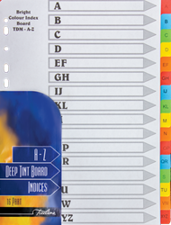 Picture of A4 16 Division Bright Board Divider Printed A - Z