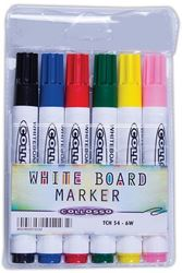 Picture of Collosso Whiteboard Markers Bullet Point Wallet of 6
