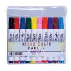 Picture of Collosso Whiteboard Markers Bullet Point Wallet of 10