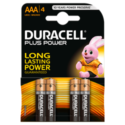 Picture of Duracell Plus AAA - Blister Pack 4
