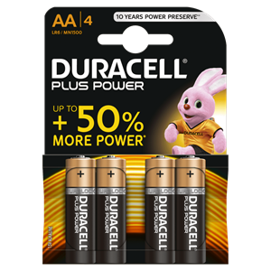 Picture of Duracell Plus AA - Blister Pack 4
