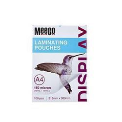 Picture of Meeco A4 Laminating Pouch 150 Micron