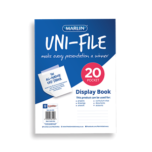 Picture of Marlin Uni-File Soft Cover Display Book 20 Pockets