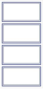 Picture of Blue Border Labels 24's 78 x 38mm