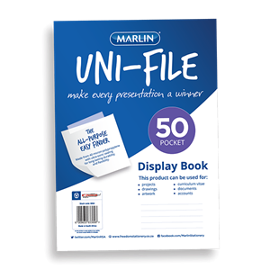 Picture of Marlin Uni-File Soft Cover Display Book 50 Pockets