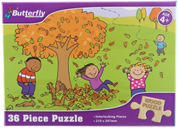 Picture of Butterfly 36 Piece Wooden Puzzle Assorted Designs