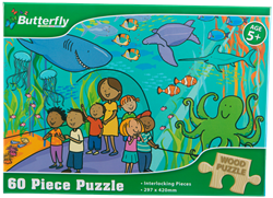 Picture of Butterfly 60 Piece Wooden Puzzle Assorted Designs