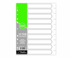 Picture of Treeline A4 10 Division File Dividers White Board