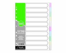 Picture of A4 10 Division Pastel Board Divider - Plain
