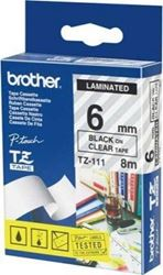 Picture of Brother P-Touch Laminated Tape 12mm Black on Clear