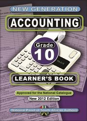 Picture of New Generation Accounting Grade 10 Learner Book