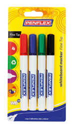 Picture of Penflex WB13 Whiteboard Markers 1mm Bullet Tip Wallet of 4