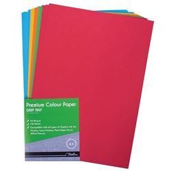 Picture of Treeline A4 Project Paper Bright Assorted 100 Sheets