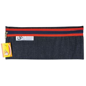 Picture of 4Kids 33 cm Denim Pencil Bag - Red