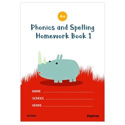 Picture of Phonics and Spelling Homework Book 1